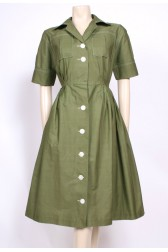 Moss Green Shirt Dress
