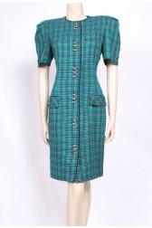 Jade Checks Dress