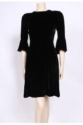 Flared Sleeve Velvet Dress