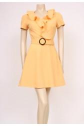 Frills Yellow Dress