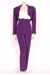 80's Ozbek Purple Trouser Suit