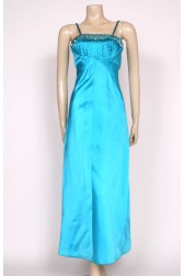 Satin Beaded 50's Couture Gown