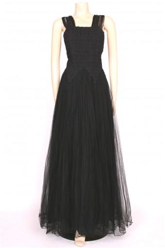 Black Full length 50's Gown