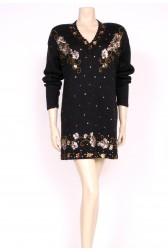 sequin Black Jumper Dress