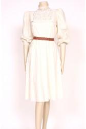 80's ivory victoriana dress