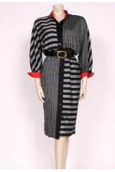 Stripes 80's day dress