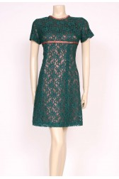 Green Lace Baby Doll Dress