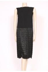 Beaded Crepe 1920's Flapper Dress