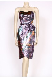80's metallic party dress