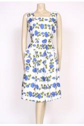 Blue rose 50's pocket dress