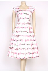 1950's pink blossom dress