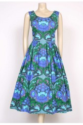 1970's Heals printed cotton dress