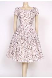 spotty 50's tea dress