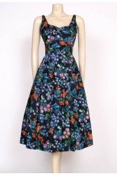 50's FRUITY BERRIES PRINT DRESS