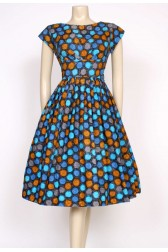 spotty 1950's day dress