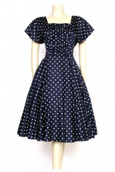 80's full circle polkadot dress