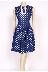 60's polkadot ruffle dress
