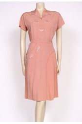 50's carnegie cocktail dress