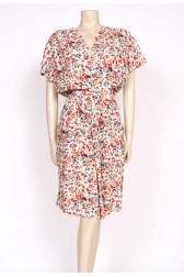 80's floral playsuit