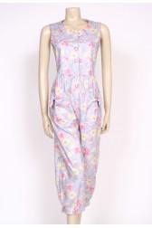 80's Laura Ashley Floral jumpsuit
