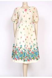 70's boho floral hippy dress