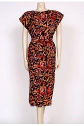 aztec print 80's sack dress
