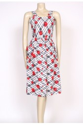 50's heart shaped pocket dress