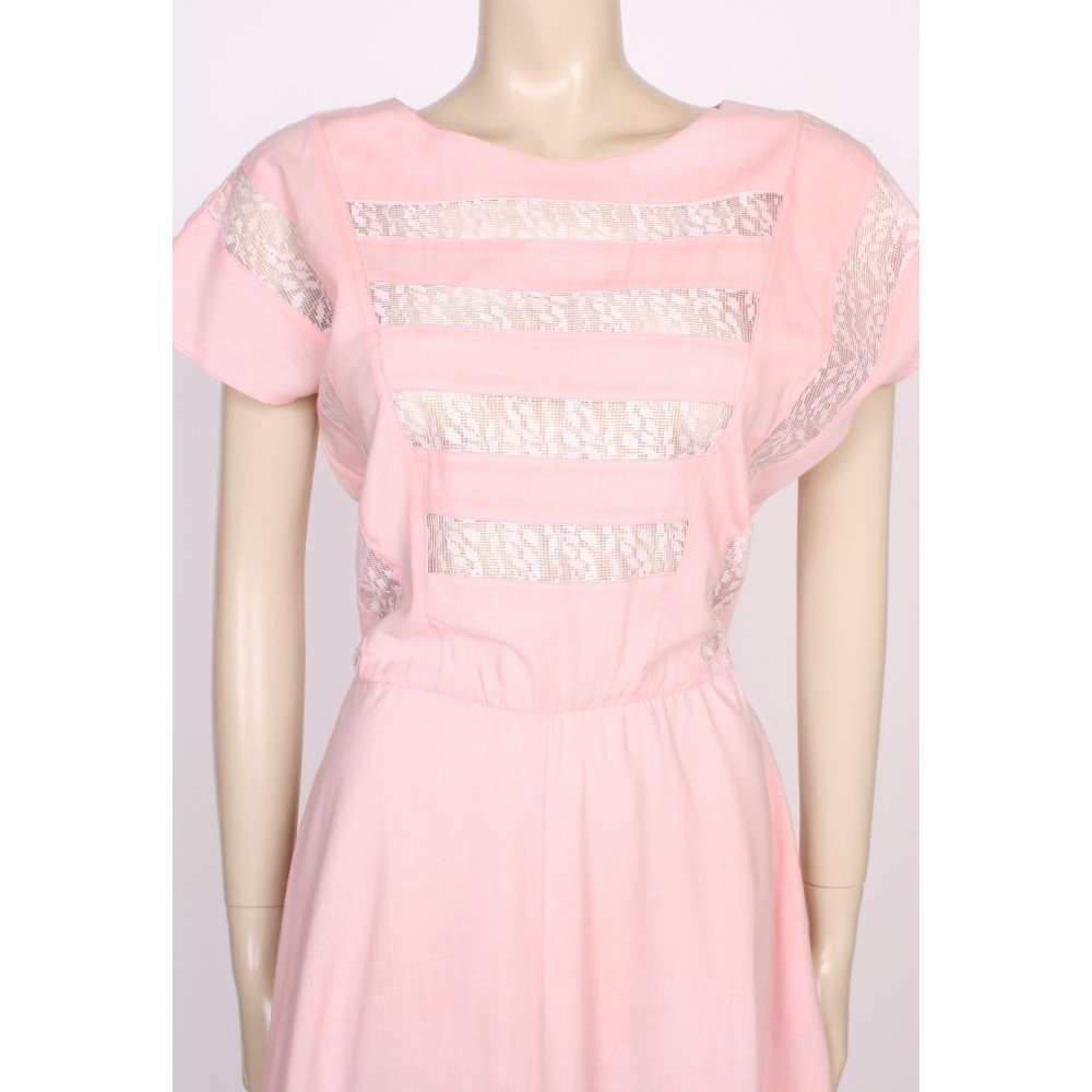 Remarkable pink lace summer dress charming