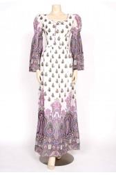 1970's paisley boho maxi dress