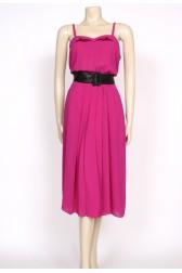 70's pink pleats strappy dress