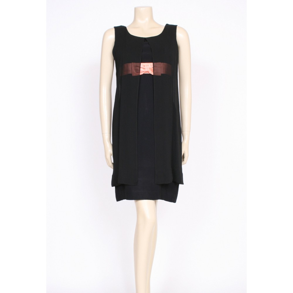 60\'s pink bow cocktail dress