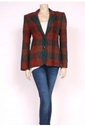 Green, Red & Blue Tweed Blazer