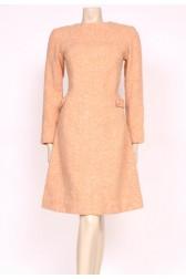 Peach Wool Mod Dress