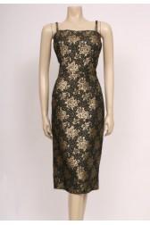 Golden 50's Wiggle Dress