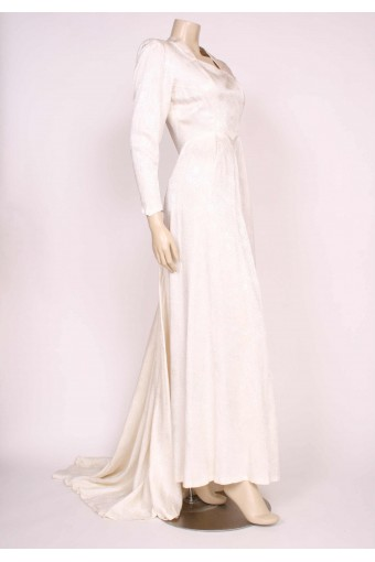 1940's Ivory Wedding Gown