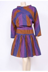 Stripes Cotton Batwing Dress