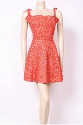 Tie-Top Red Dress