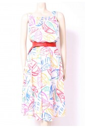 Bright Leaves Summer Dress