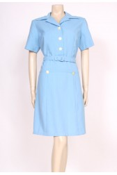 60's Blue Collar Dress