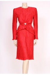 80's Red Loveheart Dress