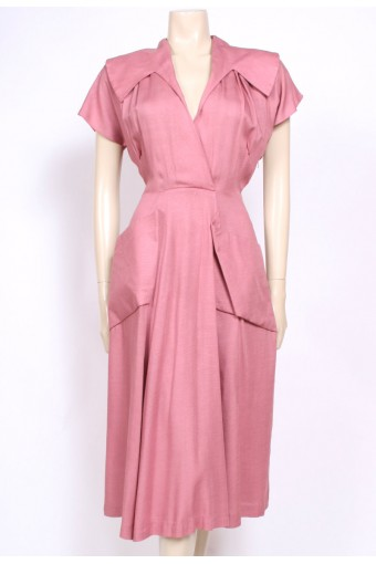 Pink Cotton 40's Dress
