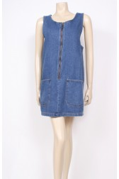 Pockets Denim Pinafore