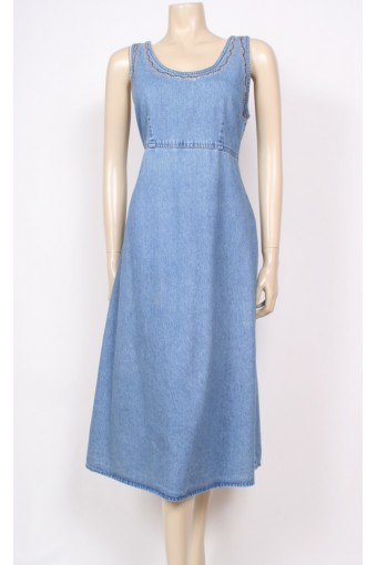 Detailed Denim Dress