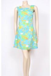 Lime Flower 60's Dress