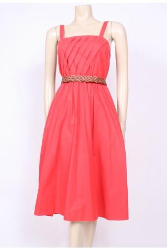 Red Pockets Sun Dress