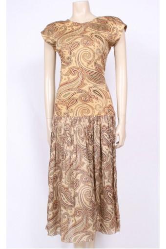 Parisian Paisley Cotton Dress