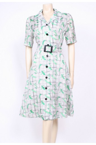 Buckled Mod Dress