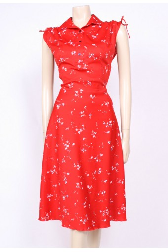 Print & Collars Dress