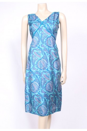 Silk Paisley 50's Dress
