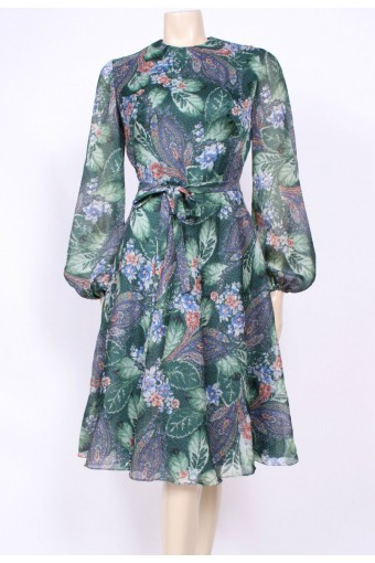 Flared Forest Green Dress